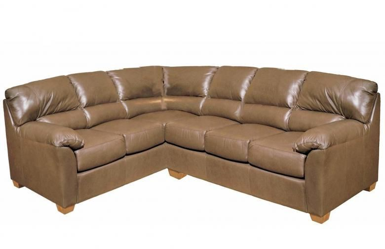 Omnia Cedar Heights Leather Sectional Collier 39 S Furniture Expo