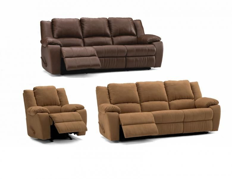Palliser Delaney Reclining Leather Sofa Set