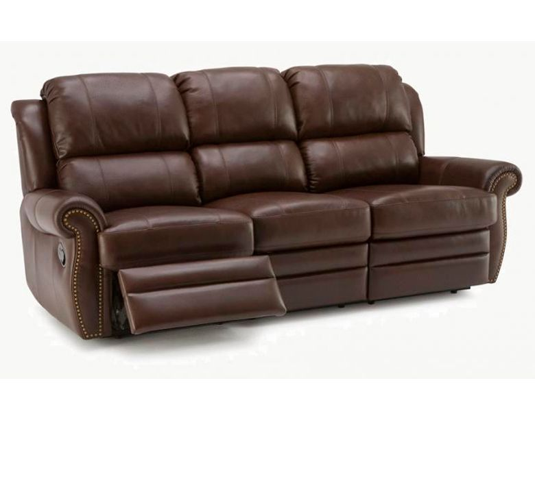 Pallicer luca leather reclining sofa set collier39s for Reclining sofa sets